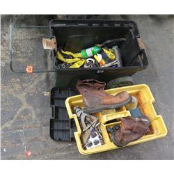 Rolling Toolbox w/ Misc Tools; Staple Gun, Boots, etc.