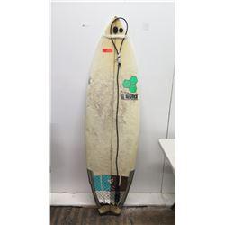 """Al Merrick 5'10"""" Surfboard, 3 Fins, Pressure Dings"""