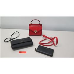 Kate Spade Purse & Matching Wallet, Red Leather Purse