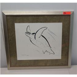"Wyland 2005 59/750 Framed Turtle Artwork 28.5"" x 32"""