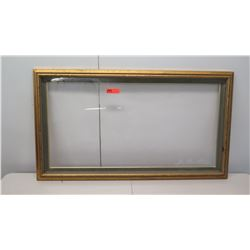 "Large Wooden Picture Frame w/ Glass in Tact 54.5"" x 30"""