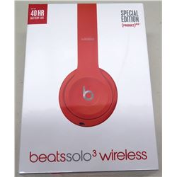 New Beats Solo 3 Special Edition Red Wireless Headphones, A1796 (non-HPD)
