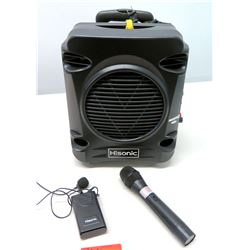 Hisonic Portable PA System w/ Microphone & Rechargeable Lithium Battery (non-HPD)