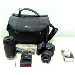 Nikon D3400 Digital Camera w/ 18-55mm VR Lens, 70-30mm Lens, Charger & Case (non-HPD)