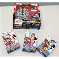 Qty 3 Yu-Gi-Oh! Trading Card Game Starter Decks & S.P.D. Japan Robot in Box (non-HPD)