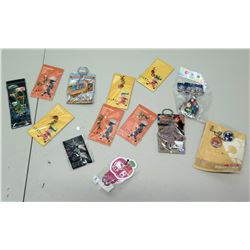 Qty 13 Japan Collectibles - Hello Kitty, Haruto, Kakashi, etc. (non-HPD)
