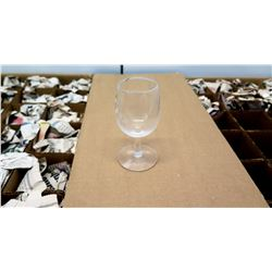 "Qty 48 Small Stemmed Claret Glasses in Cases, 4.5"" Tall (non-HPD)"