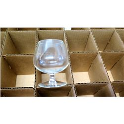 "Qty 48 Stemmed Brandy Snifters, 4"" Tall (non-HPD)"