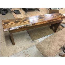 Hand Crafted Wood Bench