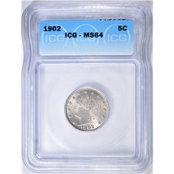 1902 LIBERTY NICKEL ICG MS-64