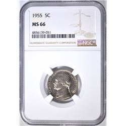 1955 JEFFERSON NICKEL NGC MS 66