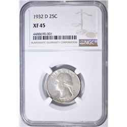 1932-D WASHINGTON QUARTER NGC XF45