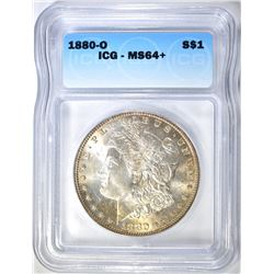 1880-O MORGAN DOLLAR ICG MS-64+