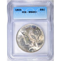 1923 PEACE DOLLAR ICGS MS-65+