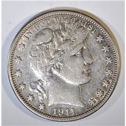 1911 BARBER HALF DOLLAR XF