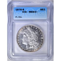1878-S MORGAN DOLLAR  ICG MS-64+