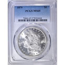 1879 MORGAN DOLLAR  PCGS MS-65