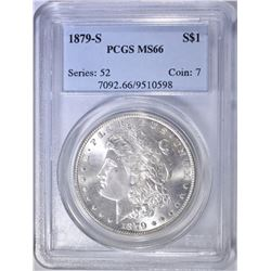1879-S MORGAN DOLLAR  PCGS MS-66