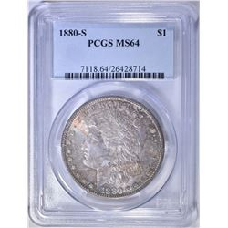 1880-S MORGAN DOLLAR   PCGS MS-64