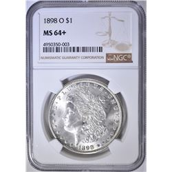 1898-O MORGAN DOLLAR  NGC MS-64+