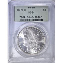 1899-O MORGAN DOLLAR  PCGS MS-64 OGH