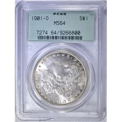 1901-O MORGAN DOLLAR  PCGS MS-64 OGH