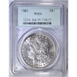 1903 MORGAN DOLLAR  PCGS MS-64 OGH