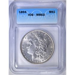 1904 MORGAN DOLLAR  ICG MS-63