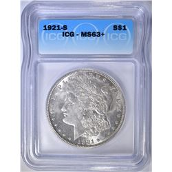 1921-S MORGAN DOLLAR  ICG MS-63+