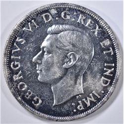 1946 CANADA SILVER DOLLAR  GEM BU