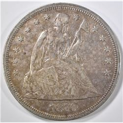 1870-CC SEATED LIBERTY DOLLAR  AU