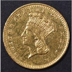 1860-S GOLD DOLLAR  AU/BU