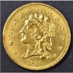 1836 $2.5 GOLD CLASSIC HEAD  AU