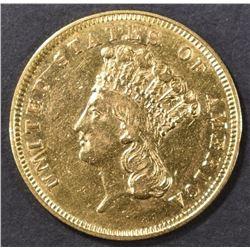 1856-S $3 GOLD  AU