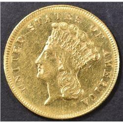 1869 $3 GOLD  CH AU
