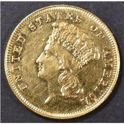 1883 $3 GOLD  AU/BU