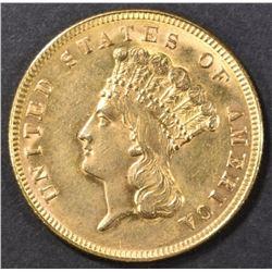 1888 $3 GOLD  BU