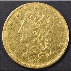 1838-C $5 GOLD LIBERTY  VF
