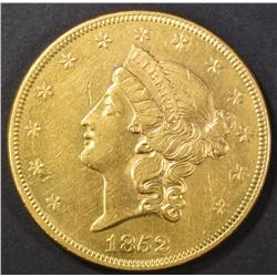 1852 $20 GOLD LIBERTY  CH AU