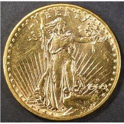 1909-D $20 ST. GAUDENS  AU/BU