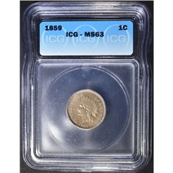 1859 INDIAN CENT  ICG MS-63