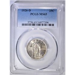 1926-D STANDING LIBERTY QUARTER  PCGS MS-65