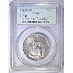 1920 PILGRIM COMMEM HALF DOLLAR  PCGS MS-64