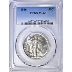 1946 WALKING LIBERTY HALF DOLLAR  PCGS MS-65