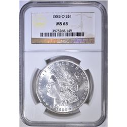 1885-O MORGAN DOLLAR   NGC MS-63