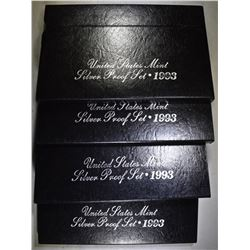 4-1993 U.S. SILVER PROOF SETS IN ORIG PACKAGING
