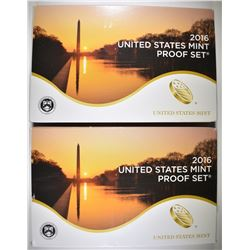 2-2016 U.S. PROOF SETS ORIG PACKAGING