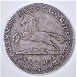 1829 SILVER 16 GROSHEN BRUNSWICK-LUNENBERG