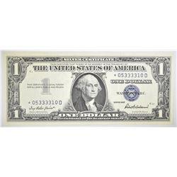 1957 $1 SILVER CERTIFICATE STAR NOTE GEM CU