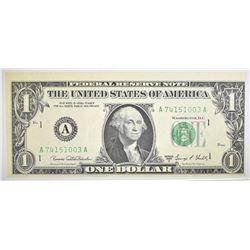 1969D $1 FEDERAL RESERVE NOTE  GEM CU